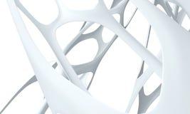 3d biel tło biel Obrazy Stock