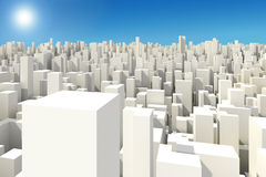 3d big city skyline. Background Stock Photos