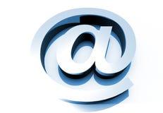 3D Big E-Mail Sign Stock Photos