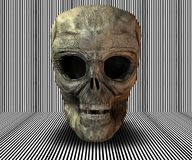 3D big realistic skull. On stripes background Royalty Free Stock Photography