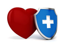 3d big red heart. Health and medicine concept Royalty Free Stock Photo