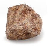 3d big rock boulde. R on white background Royalty Free Stock Image