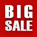 3d BIG SALE text. On white background Royalty Free Stock Photos