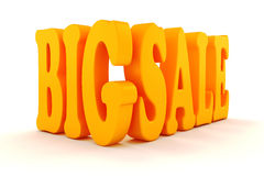 3d BIG SALE text. On white background Stock Photography
