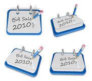 3d big sale white board Stock Images