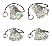 3d bill and stethoscope range four set Royalty Free Stock Photography