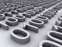 3D Binair getal Stock Afbeelding
