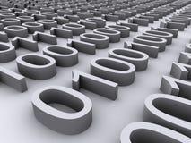 3D Binary Stock Image