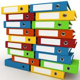 3d binders stacked with blank labels Royalty Free Stock Image