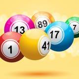3d bingo ball background. 3d bingo balls on an orange background Stock Images