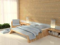 3d binnenlandse slaapkamer Royalty-vrije Stock Fotografie