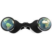 3d binocular with earth Stock Photography