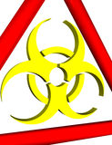 3D biohazard warning sign Royalty Free Stock Photography