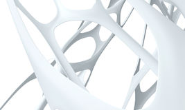 3d bionische witte achtergrond Royalty-vrije Illustratie