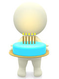 3D Birthday cake Stock Image