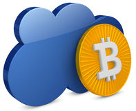 3d bitcoin with the cloud Stock Images