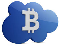 3d bitcoin with the cloud Stock Photo