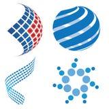 3d biznesowego projekta logo Zdjęcia Royalty Free