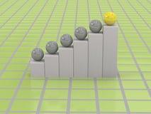 3d biznesowy wykres Fotografia Stock