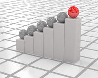 3d biznesowy wykres ilustracja wektor
