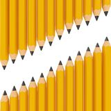 3d black pencils. Isolated on white background Stock Photography