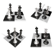 3d black and white chess Stock Image