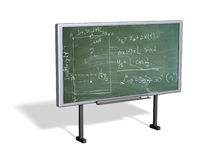 3d blackboard. Blackboard isolated white. 3d-rendered image Stock Photography