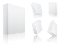 3d blanc enferme dans une boîte des vecteurs Images stock