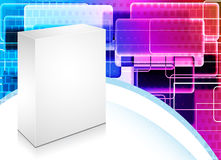 3d blanck box with abstract background. Vector 3d blanck box with abstract background Royalty Free Stock Photography