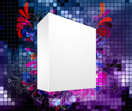 3d blanck box with abstract background Stock Images