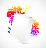 3d blanck box with floral background Royalty Free Stock Images