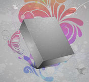 3d blanck box with grunge background. Vector 3d blank box with grunge background Royalty Free Stock Photos