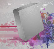 3d blanck box with grunge background. Vector 3d blanck box with grunge background Royalty Free Stock Image