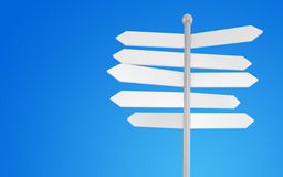 3d blank arrow sign. On sky background Stock Images
