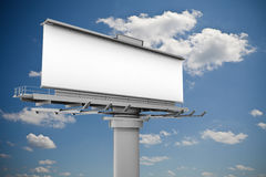 3d blank billboard. On sky background Royalty Free Stock Images