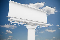 3d blank billboard. On sky background Stock Image