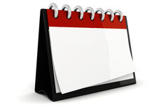 3d blank calendar ilustration. 3d blank calendar illustration on white background Royalty Free Stock Images