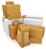3d blank carton boxes Royalty Free Stock Photo