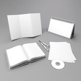 3d blank corporate id elements design Stock Photography
