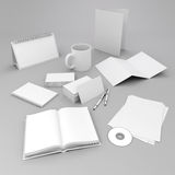 3d blank corporate id elements design. Stationary Royalty Free Stock Photo