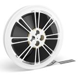3d blank film reel Royalty Free Stock Photo
