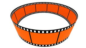 3d blank films ring Royalty Free Stock Images