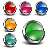 3D Blank Icons Set Stock Images