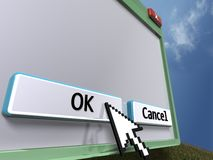 3D blank query window (close up) Royalty Free Stock Photo