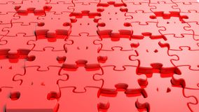 3D blank red puzzle. Background Royalty Free Stock Image