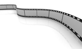 3d blank reel Royalty Free Stock Images