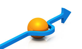 3D - blaue Orange 06 der Lösung Stockfoto
