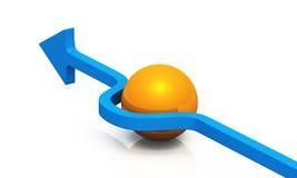 3D - blaue Orange 08 der Lösung Stockbild