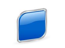3d blauw pictogram met contour Royalty-vrije Stock Foto