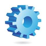3d blauw radertje Stock Afbeeldingen